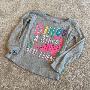 🐒BOGO🐒 Dinosaur A Girls Best Friend  T-Shirt 3T